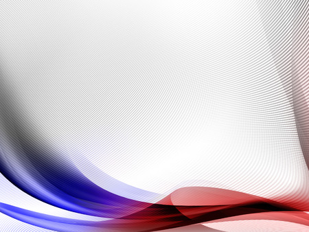White Abstract Background With Red And Blue Abstract Curved