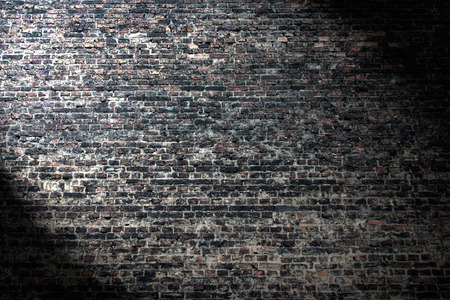 Grunge Background Dark Brick Wall Texture And Beam Of Spot Light