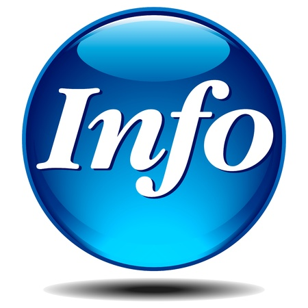 Blue glossy information icon