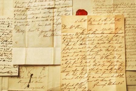 Old letters elegant handwriting background