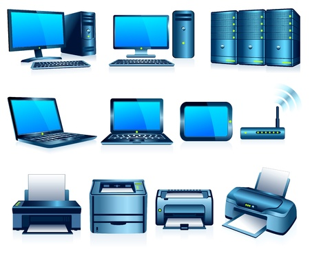 Computers Printers Technology Electronics Silver Blue