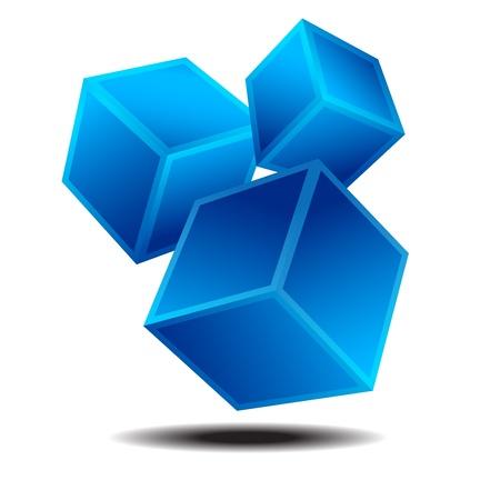 Illustration pour Dynamic Squares Logo Business identity Concept - image libre de droit