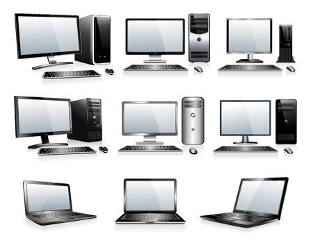 Ilustración de 3D and 2D Computers - Imagen libre de derechos