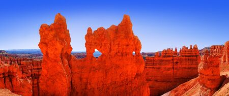 The Bryce Canyon National Park, Utah, United States, panoramic view