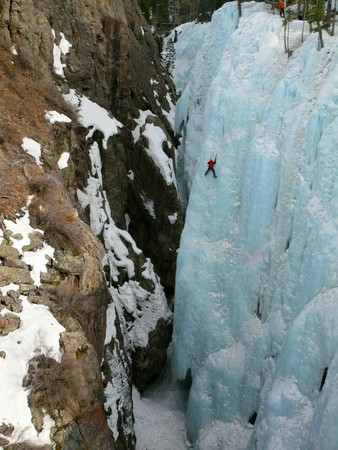 Ice climbing in Ouray, CO