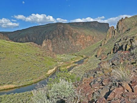 This photo was taken in the Owyhee-Bruneau Wilderness, a newly designated wilderness.  This newest American wilderness is centered on the Owyhee River and its tributaries in the southwest part of Idaho.  It was created by the 2009 Omnibus National Public
