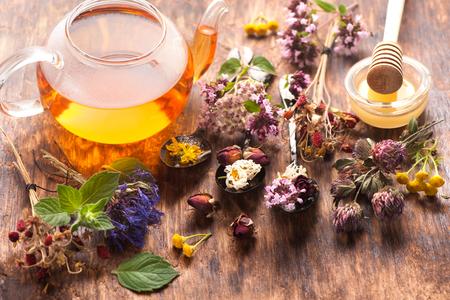 herbal tea and herbs