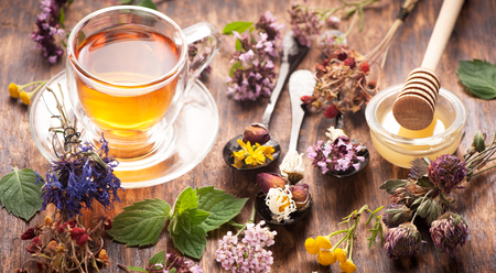 Herbal tea with honey