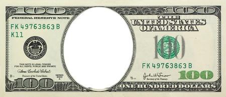 Empty dollar. Element of design.