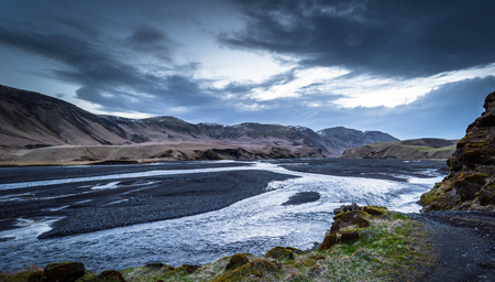 Vik - May 04, 2018: Wilderness near Vik, Iceland