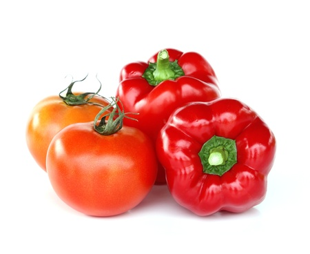 Fresh red tomato and paprika