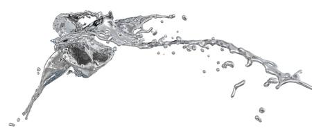 silver splashes