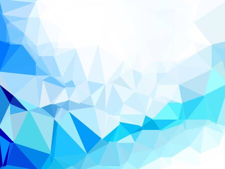 Illustration for blue polygon image texture background - Royalty Free Image