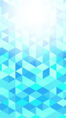 Illustration for Light blue polygon vector gradient background material - Royalty Free Image