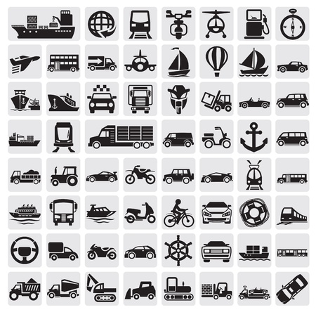 big transportation icon set