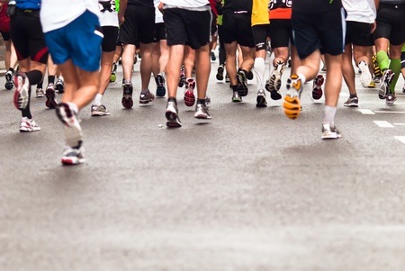 Marathons, jogging on the street