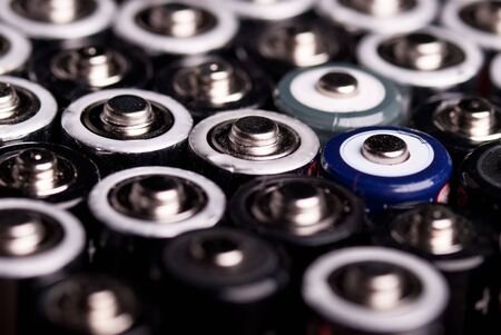 many batteries are shown at an angle from above