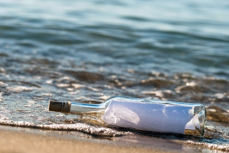 a message in a bottle with news in the surge