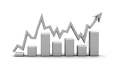 Photo for business finance chart, diagram, bar, graphic - Royalty Free Image