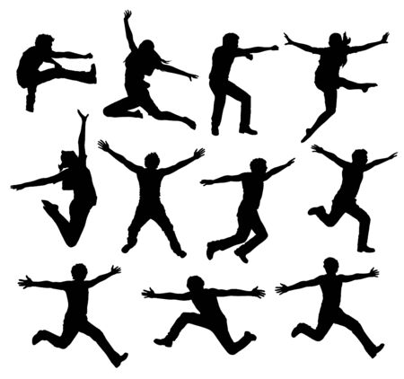 Active People silhouette -