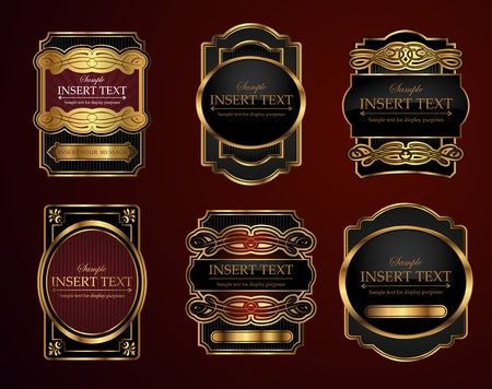 Decorative ornate labels with area to place your own text