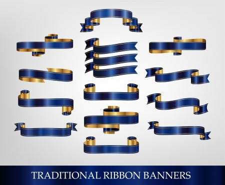 Blue Ribbon Banner Collection - illustrations