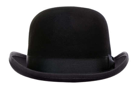 Photo of a bowler hat or derby cut out on a white background