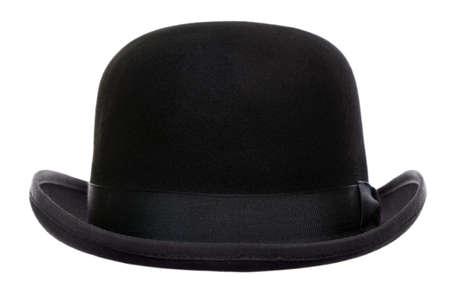 Foto de Photo of a bowler hat or derby cut out on a white background - Imagen libre de derechos