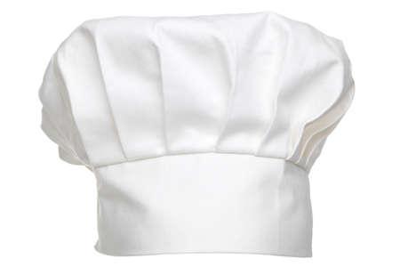 Foto de a chefs hat traditionally called a toque blanche, isolated on a white background. - Imagen libre de derechos