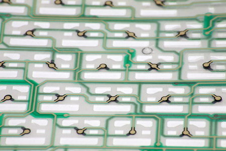 notebook green keyboard membrane