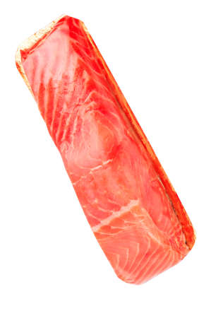 Photo pour piece of red fish fillet isolated on white - image libre de droit