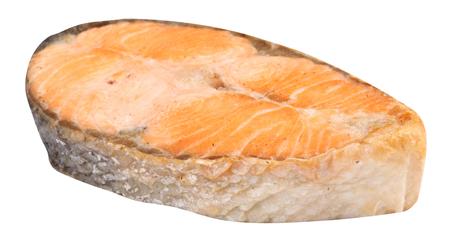 Steak of Salmon Isolated