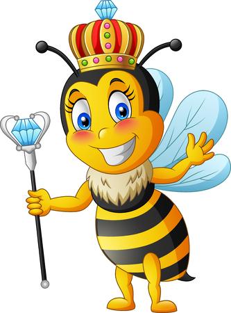 Illustration pour Queen bee cartoon. vector illustration - image libre de droit