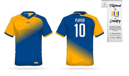 ca3e54878 Sport t-shirt or soccer jersey template for sport club. Sportswear shirt  mock up