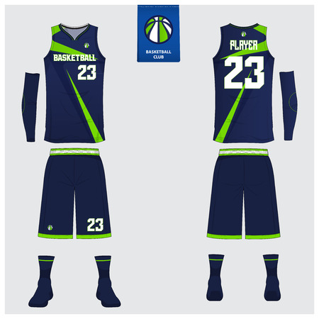 Basketball uniform or sport jersey, shorts, socks template