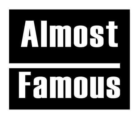 Vektor für Almost famous image vector design - Lizenzfreies Bild