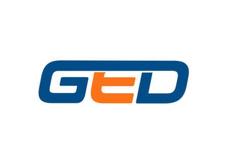 GED letter logo design vector