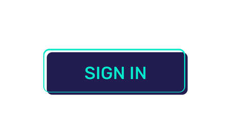 Illustration pour Sign in vector buttons isolated on white background - image libre de droit