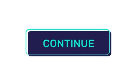 Illustration pour Continue vector buttons isolated on white background - image libre de droit