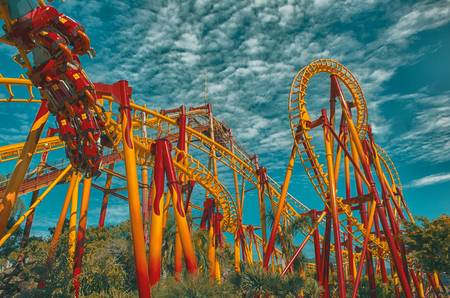 Photo for Roller Coaster - Beto Carrero World - Santa Catarina . Brazil   Rubem Sousa . Fora the Box® - Royalty Free Image