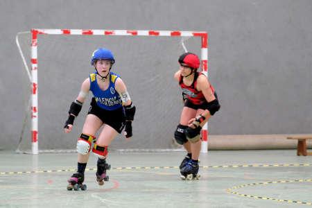 Partido de Roller Derby Valencia Madrid B