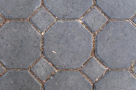 Photo for geometric gray brick pattern on floor - Royalty Free Image