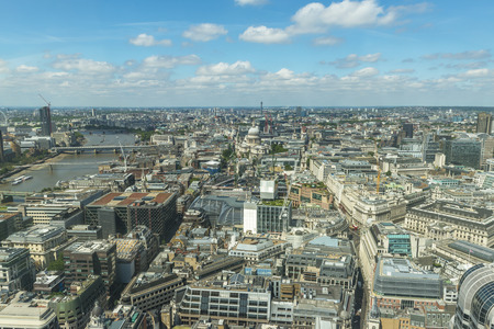 LONDON, UK - JULY 4, 2015: The Sky Garden at 20 Fenchurch Street is a unique public space that offers 360 degree uninterrupted views across the City of London