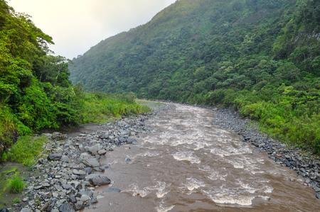Mountain River in Banos de Agua Santa, Ecuador