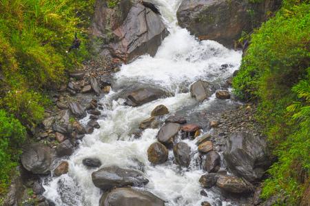 River in Banos de Agua Santa, Ecuador