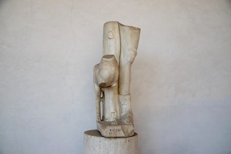 Lower Part of Artemis statue in the baths of Diocletian (Thermae Diocletiani) in Rome. Italy