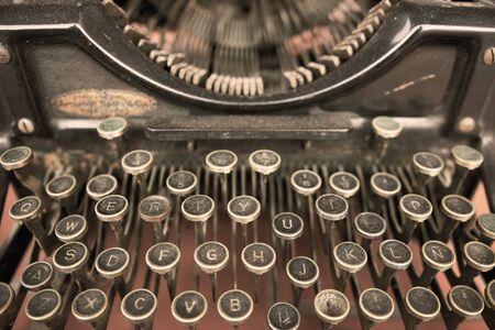 Close up of a Vintage Typewriter Machine