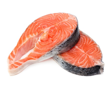 raw fillet of fresh salmon fish