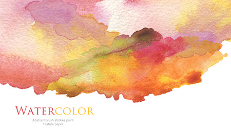 Foto de Abstract acrylic and watercolor brush strokes painted background. Texture paper. - Imagen libre de derechos
