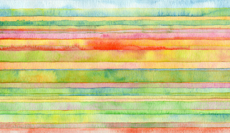 Photo pour Abstract strip watercolor painted background. - image libre de droit
